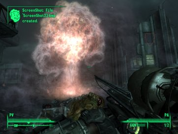 Que calentito se está a la sombra de una mini bomba nuclear